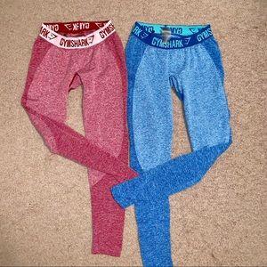 gymshark flex leggings beet / blueberry